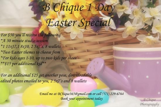 B Chique Easter Portrait Special